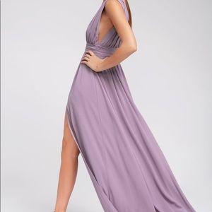 Lulus Maxi Lavender/ Mauve Stunning Dress